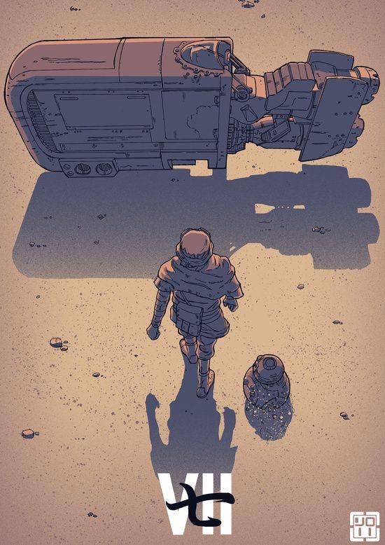 Force Awakens, Illustration, alternative film poster.