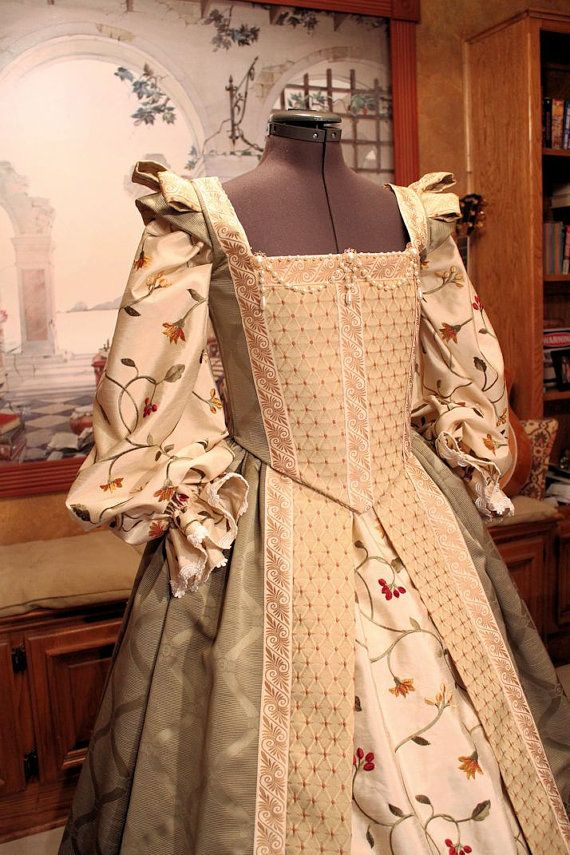 Custom Sized Renaissance Court Gown for Nobility or Royalty