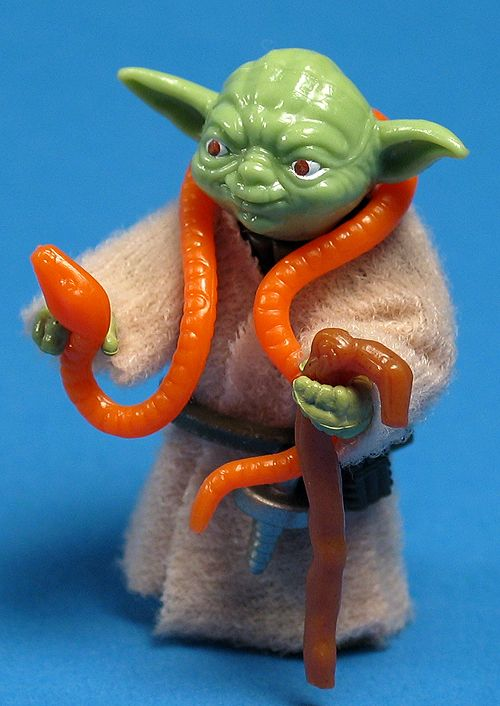 I had this Yoda! He lived in my Victorian dollhouse!  Rebelscum.com; Star Wars Toy News Archive