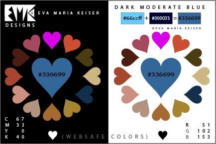 "Eva Maria Keiser Designs: Explore Color: ""Dark Moderate Blue"" (Websafe Color..."