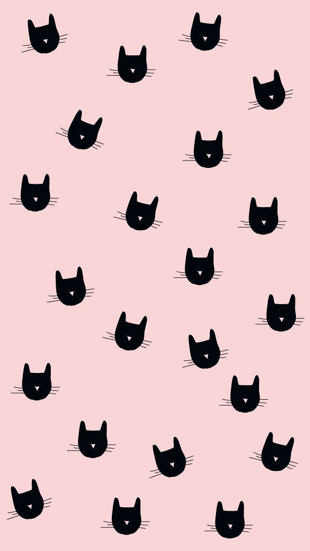 Aesthetic Tumblr Wallpaper Pattern Cats Black White In 2020 Halloween Wallpaper Cat Wallpaper Android Wallpaper