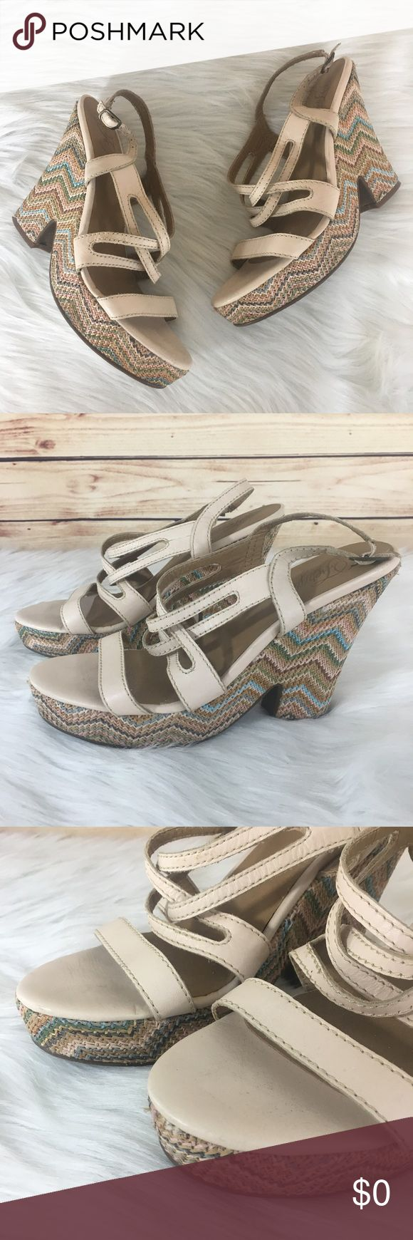 """👡 Fergie chevron straw wedges ✨Newly listed items are priced to move.. please help me clear out my actual closet 😉  Preloved / Fergie chevron straw wedges from Nordstrom Rack Size 10, fits true to size Copper hardware / strap and buckle closure Wedge height: 5"""" Platform height: 1"""" *Shoes show wear (may have dirt, scuffs, scratches, rubbing) *Comes without shoebox but will be packaged in a usps shipping box.  ✨Build a bundle with all your likes and use the automatic bundle discount -or…"""