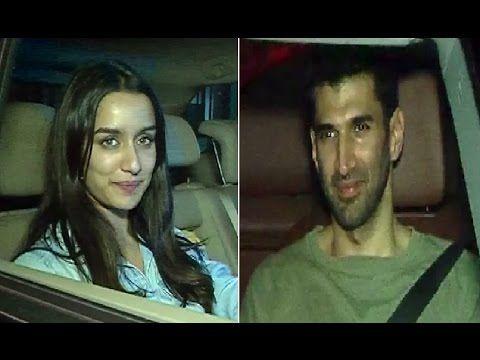 Shraddha Kapoor & Aditya Roy Kapoor spotted at Shaad Ali's house.