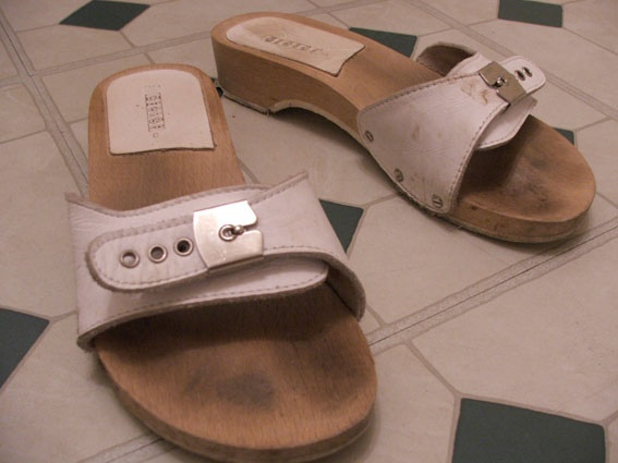 Well Worn Drscholl Sy For Her Wooden Sandals