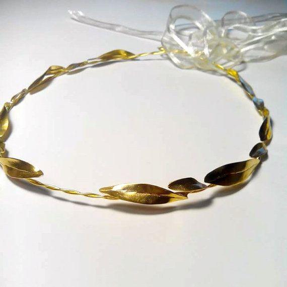 GOLD LEAF CROWN Boho Wedding Crowns in raw by ArchStudioGallery