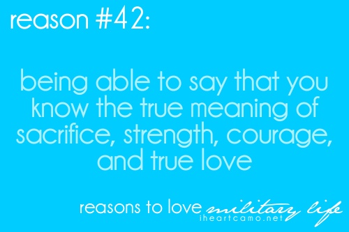 being able to say that you know the true meaning of sacrifice, strength, courage and true love.<3