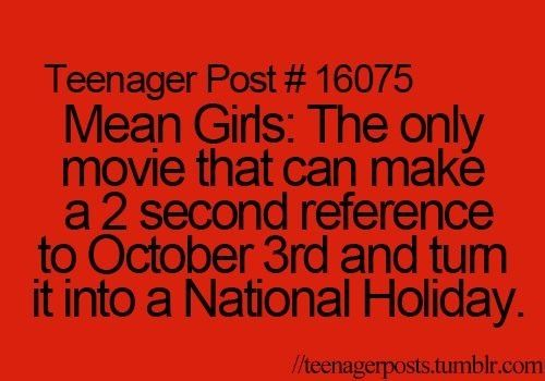 What day is it? It's October 3rd