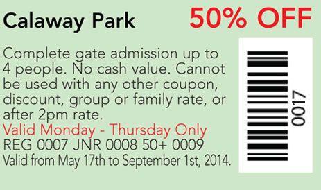 Calaway Park coupon