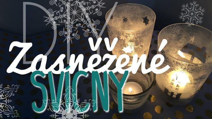 Zasněžené svícny DIY | Vánoční DIY | #laterezatelier