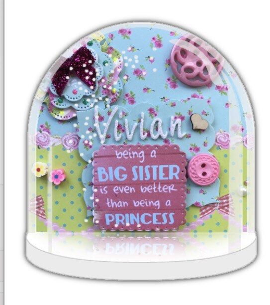 Soon to be big sister, new baby reveal, sister promotion, future big sister, pregnancy reveal, big sister Snow globe Personalised snow globe