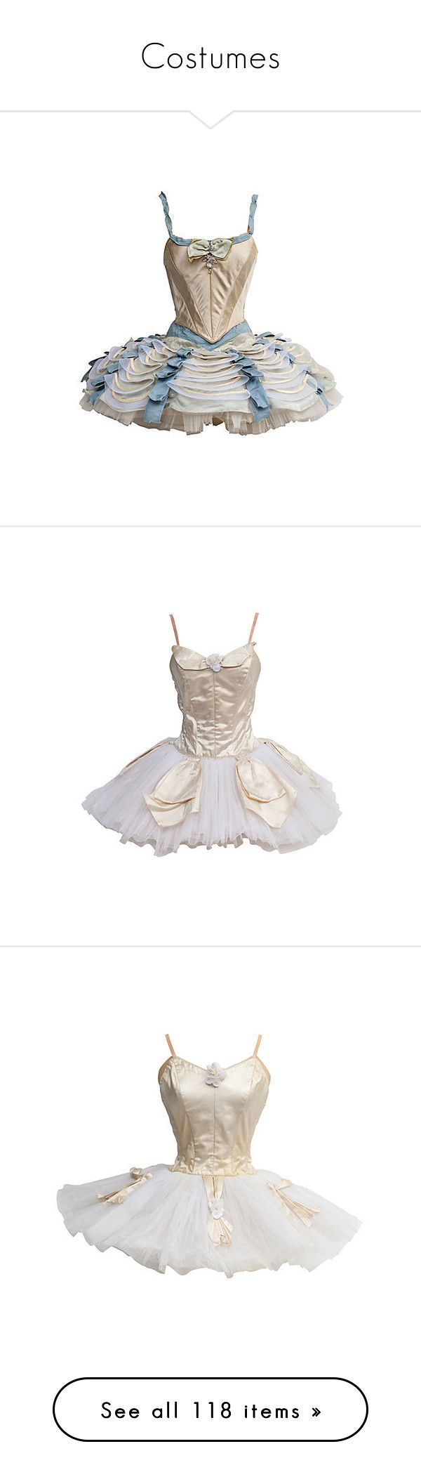 """""""Costumes"""" by jesuisunlapin ❤ liked on Polyvore featuring costumes, dresses, ballet, dance, robe, costume, ballerina costume, ballerina halloween costume, ballet halloween costume and ballet costumes"""
