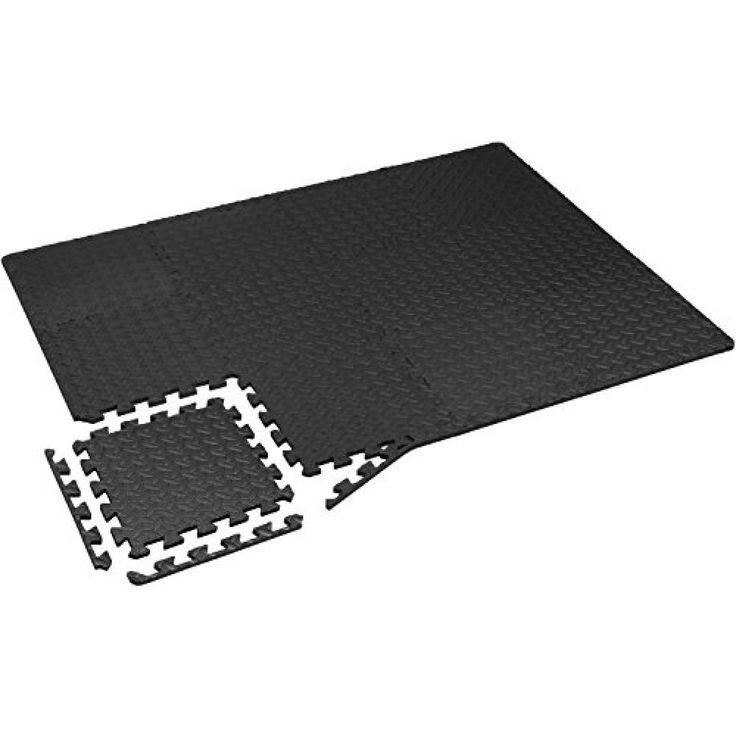 Exercise Floor Mat Protector Interlocking Tiles Puzzle