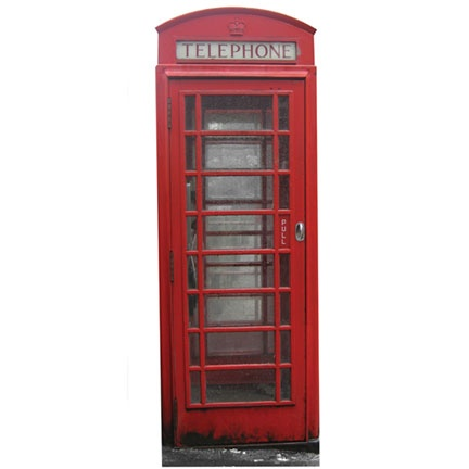 how to make a telephone booth out of cardboard