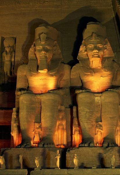 Colossal statues of Temple of Ramesses II, Abu Simbel, Nubia, Aswan.