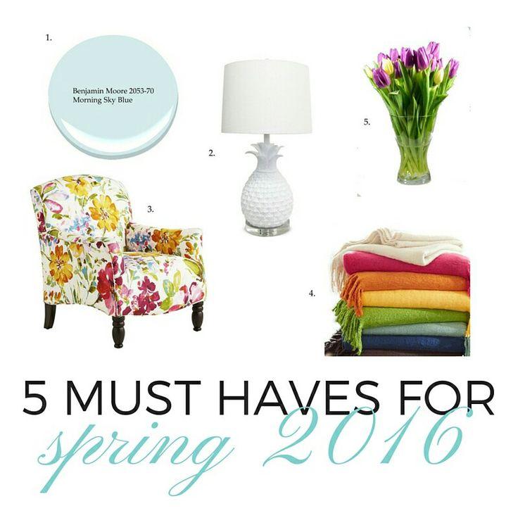 Five must haves for spring 2016. Designer top picks