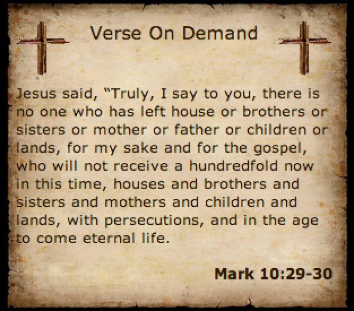 Image result for mark 10:29-30