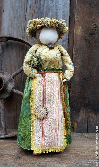 """Народные куклы ручной работы. Кукла """"Одолень трава"""". Маруся. Ярмарка Мастеров. Одолень-трава, сухоцветы"""