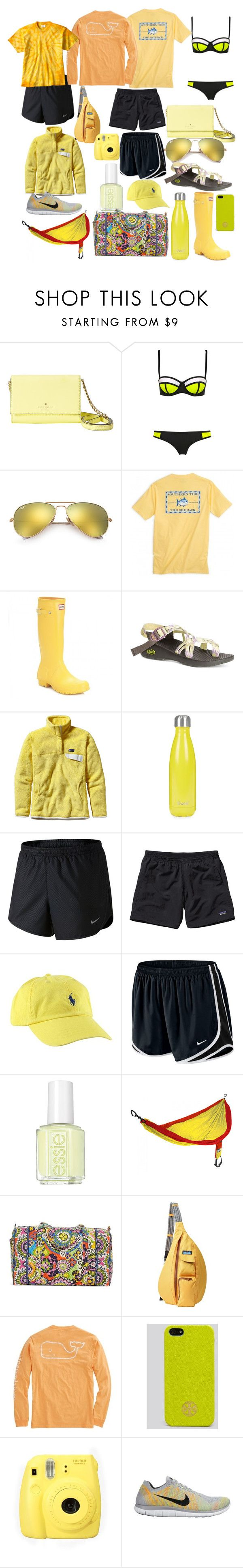 """Idk pt 2"" by dickeyfam on Polyvore featuring Kate Spade, WithChic, Ray-Ban, Hunter, Chaco, Patagonia, S'well, NIKE, Essie and ENO"
