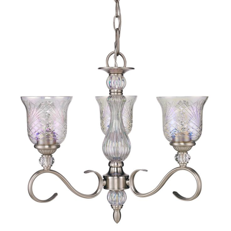 alston place mini chandelier in pewter