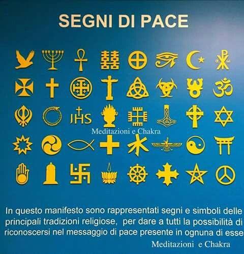 Simboli di pace nelle varie religioni e dottrine.