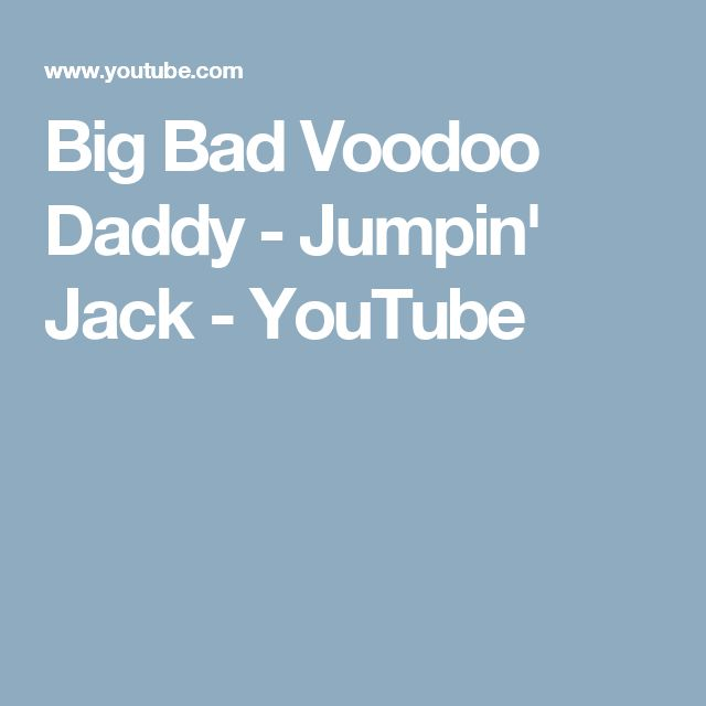 Big Bad Voodoo Daddy - Jumpin' Jack - YouTube