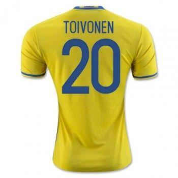 Sverige 2016 Toivonen 20 Hemmatröja Kortärmad   #Billiga  #fotbollströjor