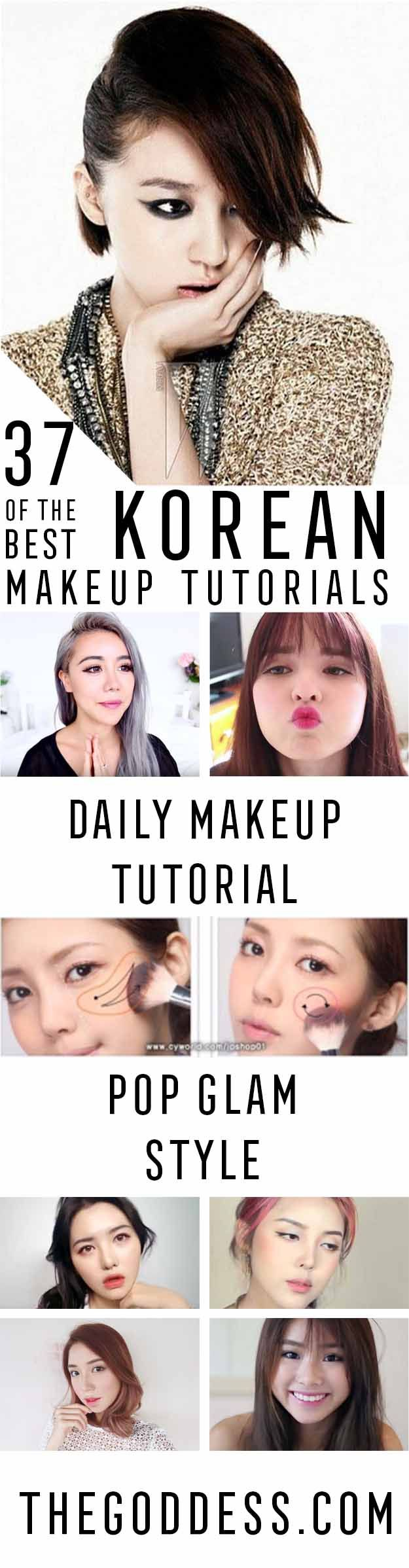 Best Korean Makeup Tutorials - Natural Step By Step Tutorials For Ulzzang, Pony, Puppy Eyes, Eyeshadows, Kpop, Eyebrows, Eyeliner and even Hairstyles.  Super Cute DIY And Easy Contouring, Foundation, and Simple Dewy Skin Help For Beginners - http://thegoddess.com/best-korean-makeup-tutorials