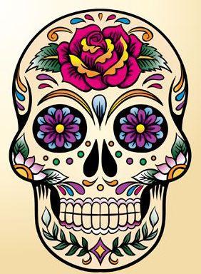 Skull 1 (purple/pink)