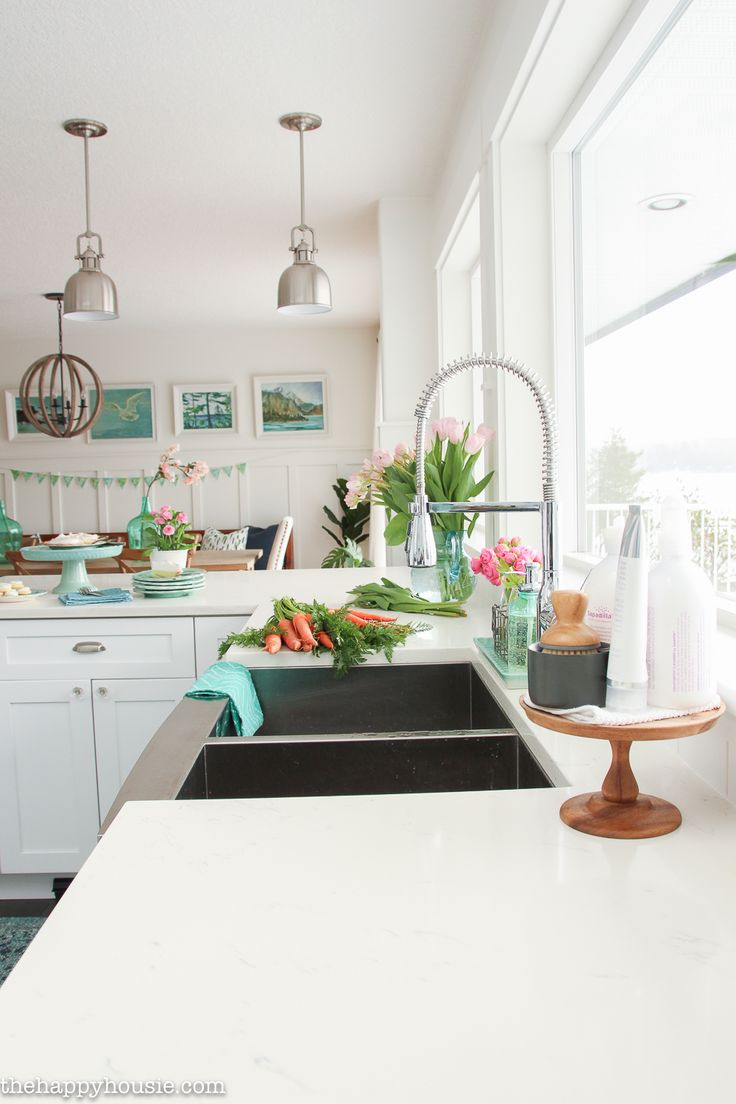 225 best Beachy Kitchens images on Pinterest | Kitchen white ...