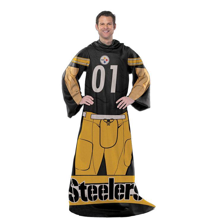 Pittsburgh Steelers NFL Uniform Comfy Throw Blanket w/ Sleeves