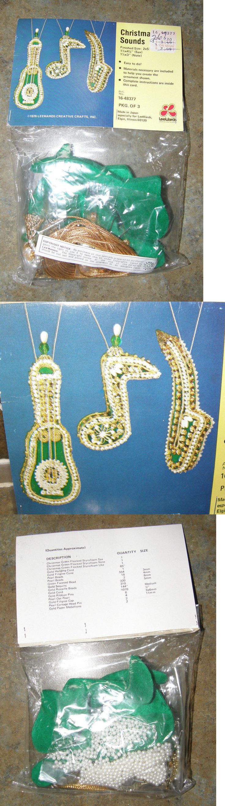 Other Beading Kits 162094 Vintage Leewards Sequin Beads Christmas Ornament