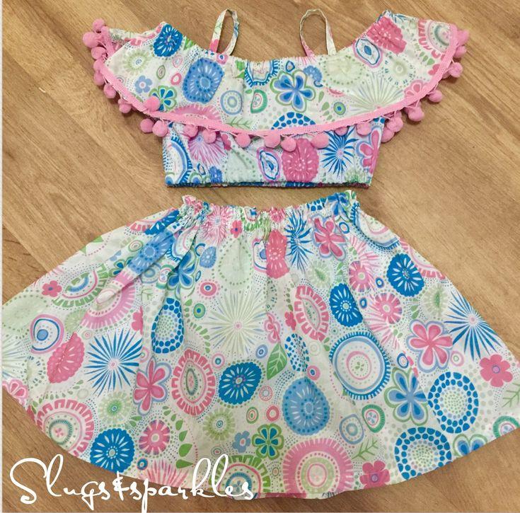 Boho style skirt and Bardot top, handmade ... in lightweightsummer fabrics
