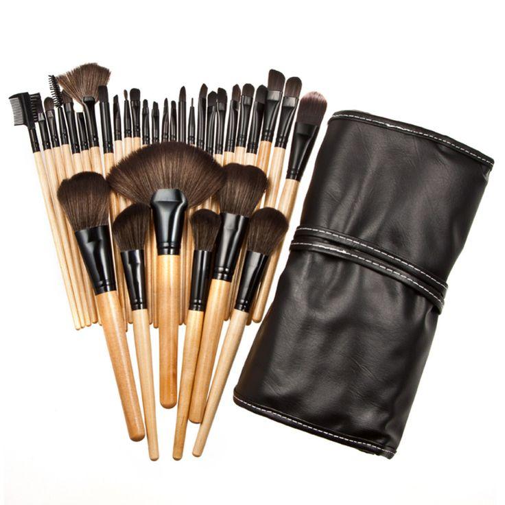 Прочный 32 ШТ. Прочный Мягкий Макияж Кисти Профессиональная Косметика Make Up Brush Set 2016 Новый GUB #