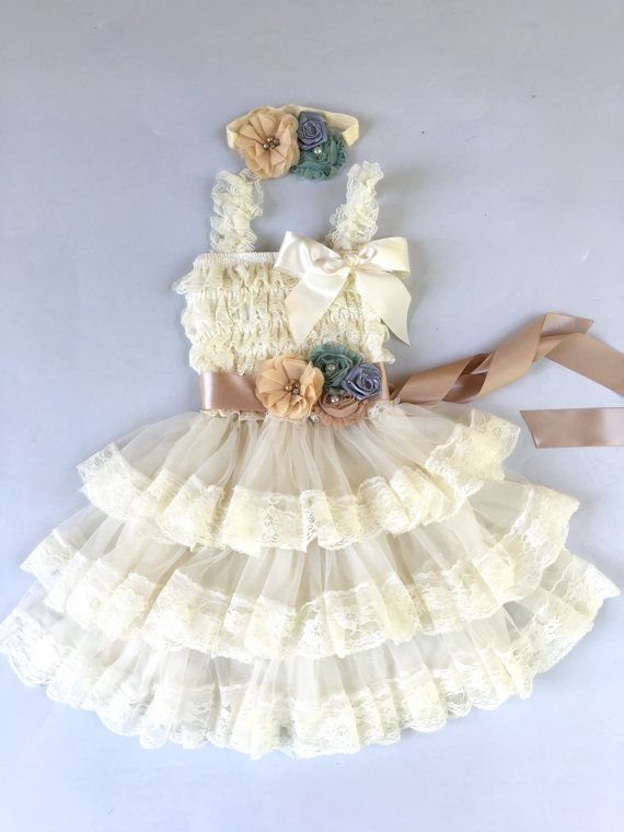 45%off SALE Extra Full Flower Girl Lace Dress Baby by BabyIsland