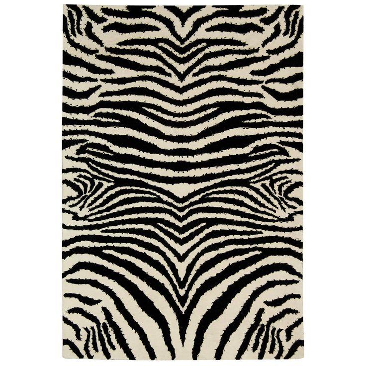 Soho Zebra Black White Wool