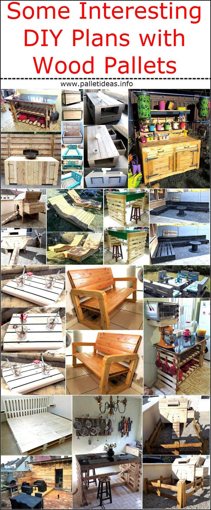 It is true that there are any people living in different parts of the world, who don't know they can use the wood pallets once they are used for their primary purpose; but there are also many individuals who just use them to create simple items. It is not hard to cut the pallets into stylish shapes and creating interesting items with them that are not only impressive, but praiseworthy. We are interested in presenting the innovative ideas to use the wood pallets, so here are some interesting…