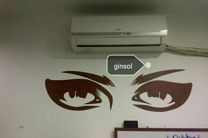 «ojos» decorativos, corte láser material sintético.