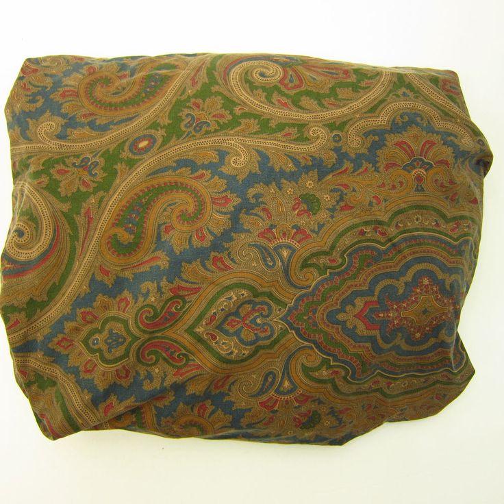 Vtg Ralph Lauren Elizabeth Brianna Paisley Twin Fitted Sheet Cutter Fabric #RalphLauren #Traditional