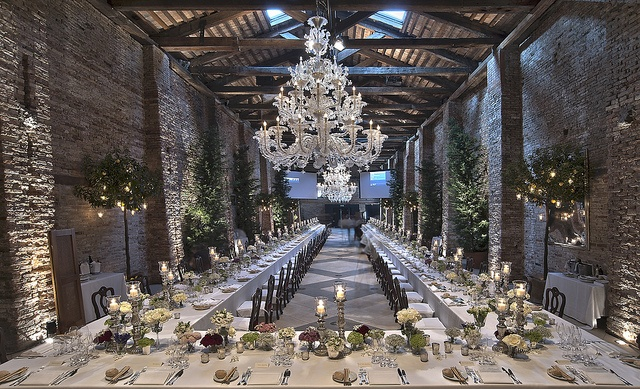 A contemporary and chic space in Venice. Here George Clooney and Amal Alamuddin hosted their wedding party.
