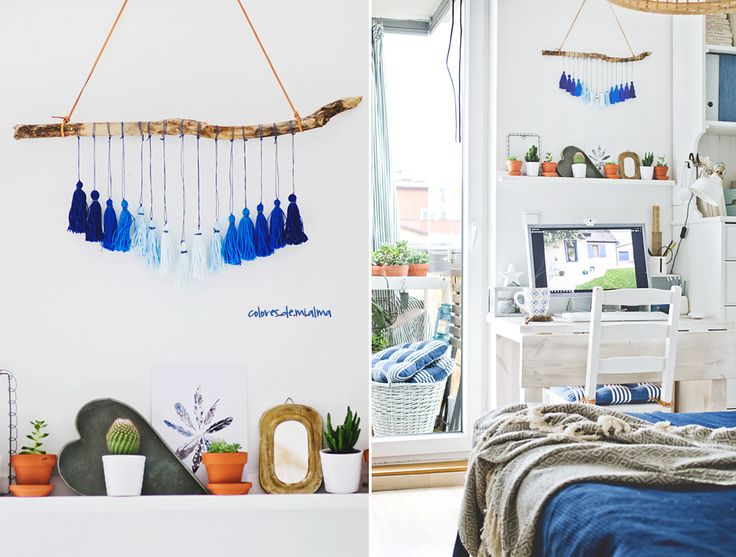 gradient tassel Wall Hanging , DIY ,