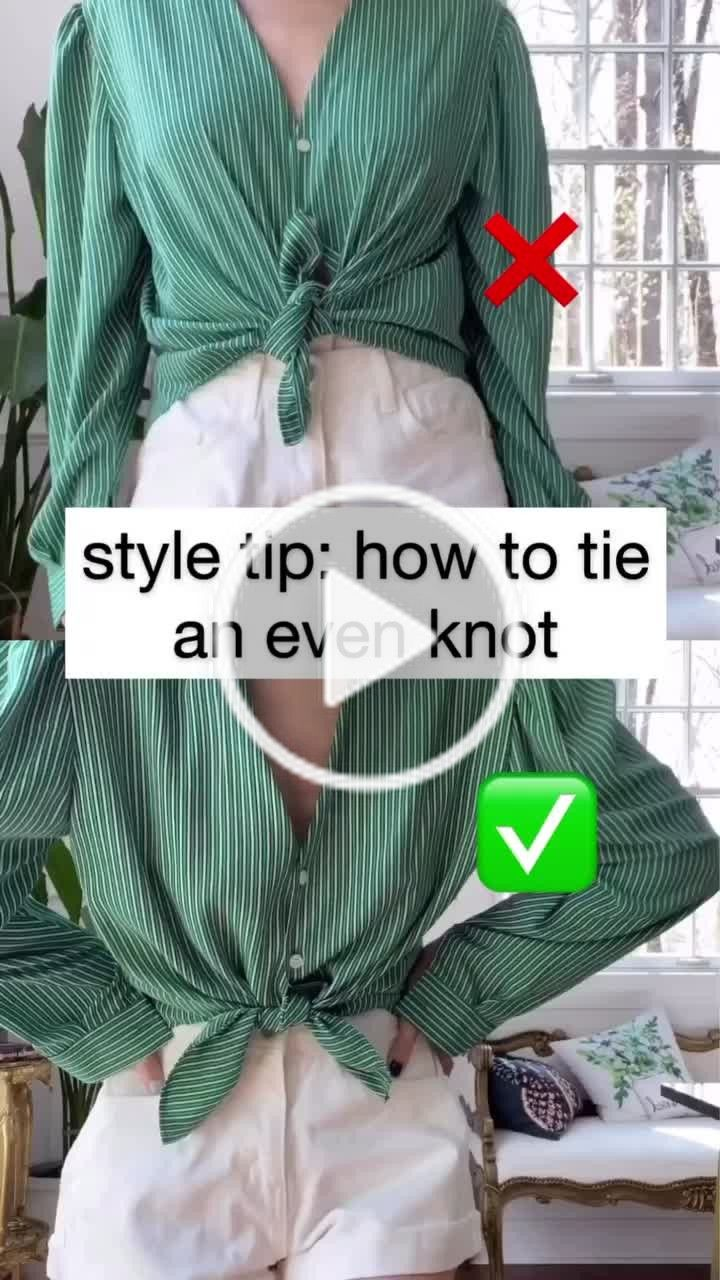 Jessica Wang Jessicawangofficial On Tiktok How To Tie A Button Front Shirt Super Easy Styletips Fashionhac Diy Fashion Fashion Hacks Clothes Diy Clothes