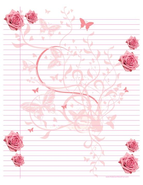 Mothers Day Ruled Paper - Pink