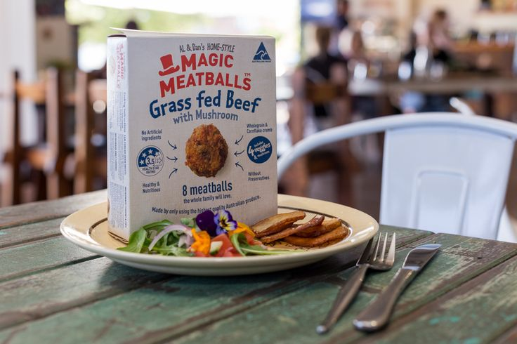 The Grass Fed Beef variety are created using mushrooms,red onion, broccoli, celery, garlic, egg, wholegrain breadcrumbs and Kelloggs cornflakes.