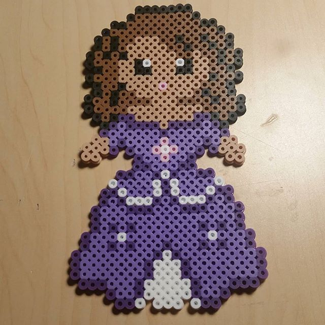 Sofia the First perler beads by  bigheadpixelart