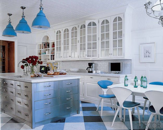 Custom kitchen islands diamond baratta custom kitchen for White and blue kitchen ideas