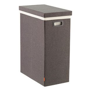 Dark Grey Poppin Laundry Hamper with Lid | The Container Store