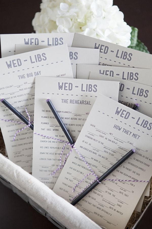 Wedding Mad Libs (Proposal, Bachelorette Party, and Honey Moon Plans -- front and back free printables!)