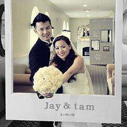 Create your own photobooth room using cut out styrofoam as the polaroid frame!  SMART!