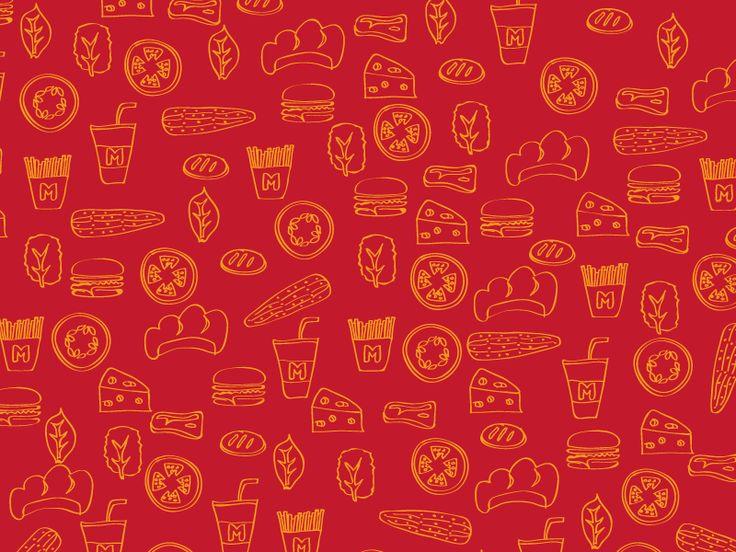 Morzy's Burger Pattern by Oka Kuswandi