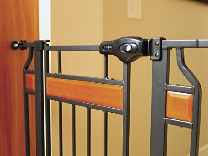Walk Thru Gate Extra Tall Hardwood And Steel Infant Baby Pet Summer Safety #Regalo
